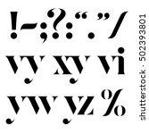 vector elegant black letters...   Shutterstock .eps vector #502393801