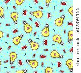 seamless pattern with fashion... | Shutterstock .eps vector #502394155