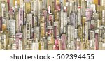 city background hand drawn... | Shutterstock . vector #502394455
