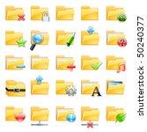 set of vector folder icons   Shutterstock .eps vector #50240377