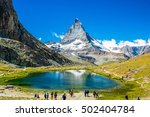 Peak  Matterhorn In Swiss Alps