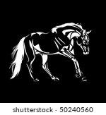 vector horse sketch | Shutterstock .eps vector #50240560