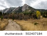 Trail View Of The Flat Irons...