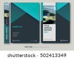 layout annual report  flyer ... | Shutterstock .eps vector #502413349