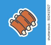 ribs food icon stickers meat | Shutterstock .eps vector #502415527
