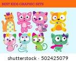 cute animal for kids   Shutterstock .eps vector #502425079