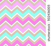 chevron turquoise white pink...   Shutterstock .eps vector #502436005