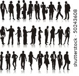 large set of silhouettes of... | Shutterstock .eps vector #50243608