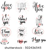 vector  hand drawn lettering... | Shutterstock .eps vector #502436545