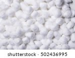 delicate soft cotton wool... | Shutterstock . vector #502436995