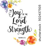 joy of the lord is my strength... | Shutterstock . vector #502437505