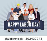 happy labor day american banner ... | Shutterstock . vector #502437745