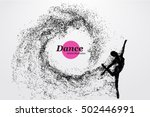silhouette of a dancing girl of ... | Shutterstock .eps vector #502446991