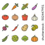 vegetables set food icon colored | Shutterstock .eps vector #502447951