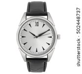 wristwatch isolated on white...   Shutterstock . vector #502448737