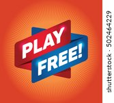 play free  arrow tag sign. | Shutterstock .eps vector #502464229
