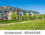 brand new condo building on... | Shutterstock . vector #502465189