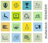 set of 16 universal editable... | Shutterstock .eps vector #502465345