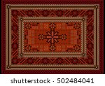Vivid Luxury Ethnic Carpet Wit...