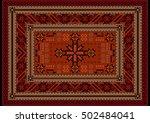 Vivid Luxury Ethnic Carpet Wit...