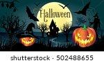 halloween. halloween... | Shutterstock .eps vector #502488655