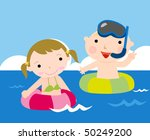 little kids at the sea | Shutterstock .eps vector #50249200