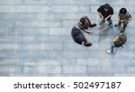 top view group of people are...   Shutterstock . vector #502497187