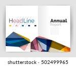 business triangle design modern ... | Shutterstock .eps vector #502499965