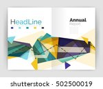 business triangle design modern ... | Shutterstock .eps vector #502500019