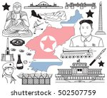 travel to north korea  if you... | Shutterstock .eps vector #502507759
