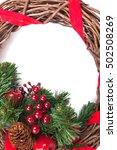 christmas border isolated on... | Shutterstock . vector #502508269