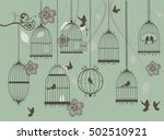 vector illustration of vintage... | Shutterstock .eps vector #502510921
