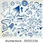 big set of various doodle... | Shutterstock .eps vector #50251156
