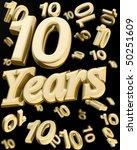 10 years anniversary word with... | Shutterstock . vector #50251609