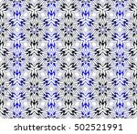 seamless geometric floral... | Shutterstock .eps vector #502521991