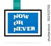 modern poster on a blue... | Shutterstock .eps vector #502525705
