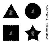 black vector grunge shape... | Shutterstock .eps vector #502526047