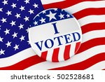 vote button on american flag... | Shutterstock . vector #502528681