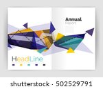 unusual abstract corporate... | Shutterstock .eps vector #502529791