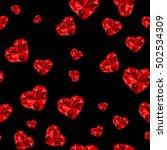 hearts.crystal hearts. seamless ...   Shutterstock .eps vector #502534309