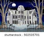 haunted abandoned dark mansion...