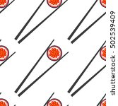 sushi and chopsticks vector... | Shutterstock .eps vector #502539409