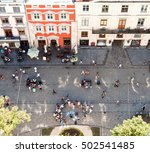 market square with tourist...   Shutterstock . vector #502541485