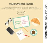 poster for italian language... | Shutterstock .eps vector #502544254