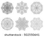 set of 6 hand drawn vector... | Shutterstock .eps vector #502550641