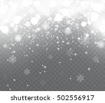falling snow with snowflakes on ... | Shutterstock .eps vector #502556917