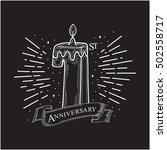 1st years anniversary design....   Shutterstock .eps vector #502558717