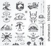 Set Of Ski Club Concept And...