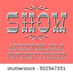 decorative vintage latin font... | Shutterstock .eps vector #502567351