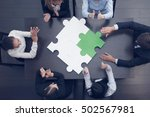 group of business people... | Shutterstock . vector #502567981